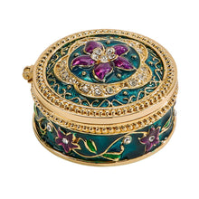 Load image into Gallery viewer, Trinket Box with Purple Flower
