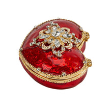 Load image into Gallery viewer, Red Heart Trinket Box