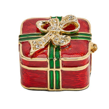 Load image into Gallery viewer, Red/Green Gift Trinket Box
