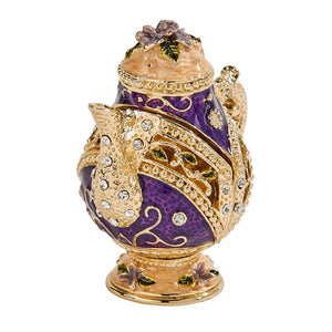 Purple Teapot Trinket Box