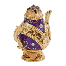 Load image into Gallery viewer, Purple Teapot Trinket Box