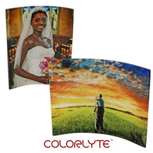 "Load image into Gallery viewer, Acrylic Photo Panel - 10"" x 8"" CURVED Landscape Oriented"