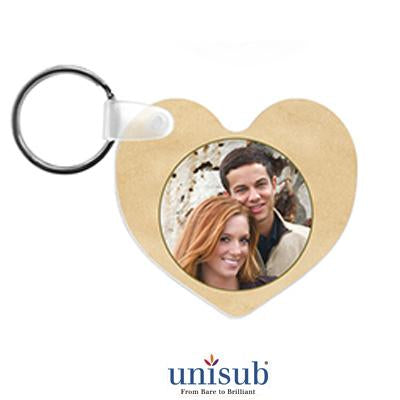 Key Ring - Heart Shaped - 2 Sided