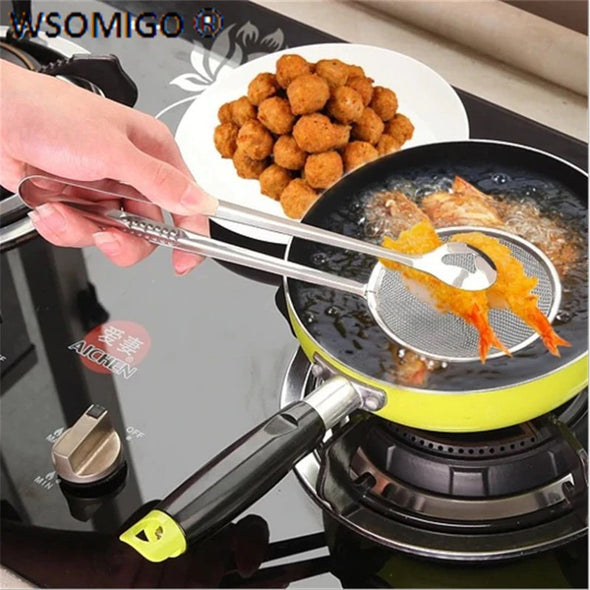 2-IN-1 TONGS STRAINER