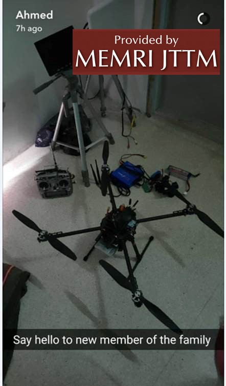 Australian Jabhat Fath Al-Sham Fighter Posts Photo Of Drone on His Snapchat memri