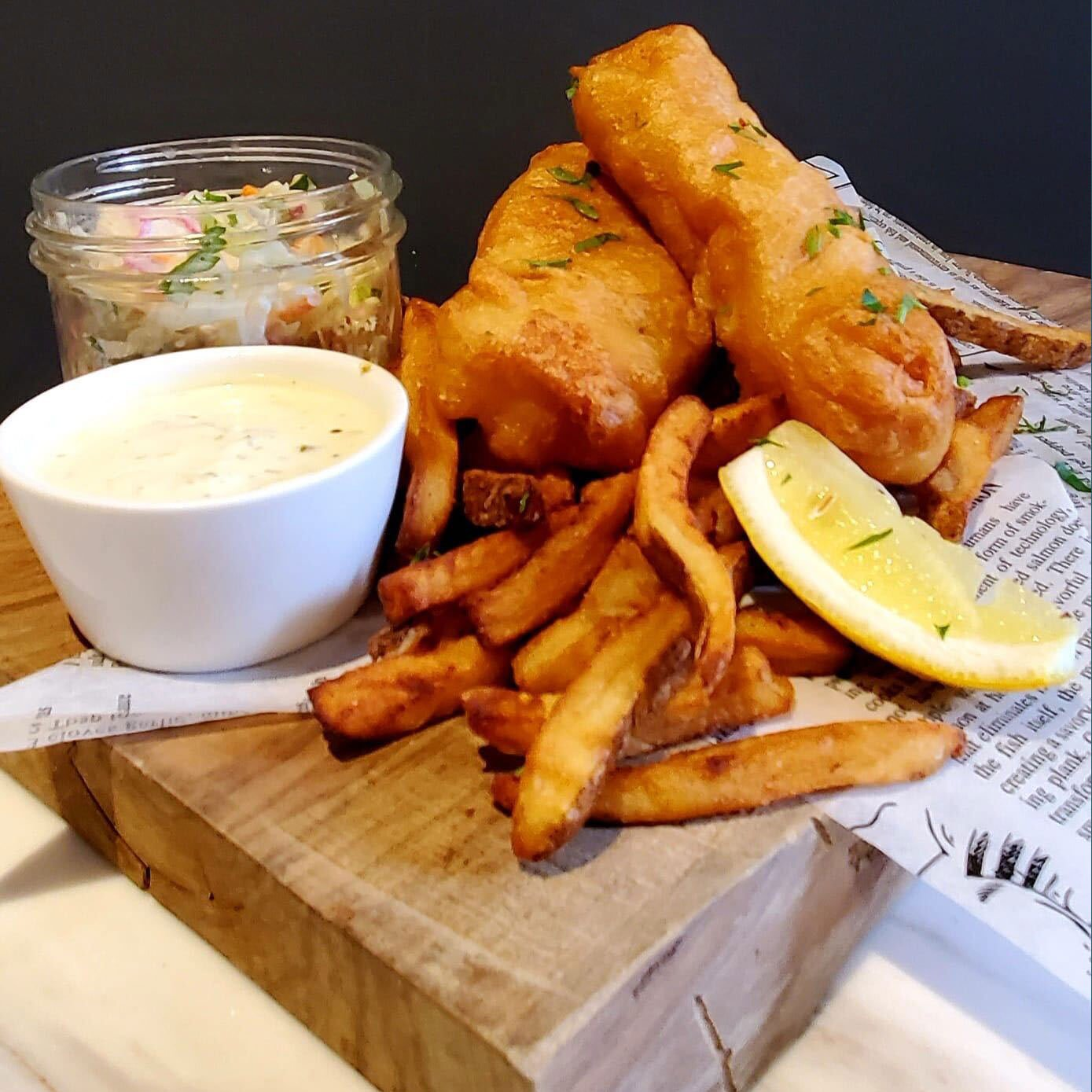 August 7 Friday Night Dinner - Fish & Chips