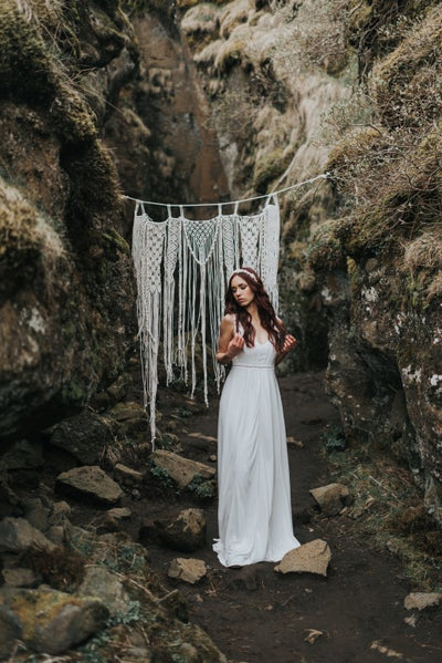 My macrame at a styled wedding shoot in... Iceland!
