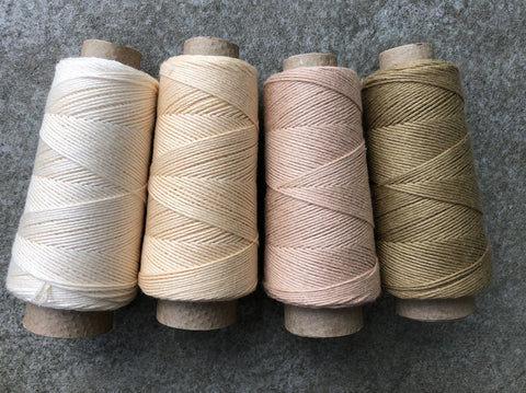 Stringrope - 1 mm in crudo, champagne, camel & make up - 100% Organic Combed Cotton (Spanish line)