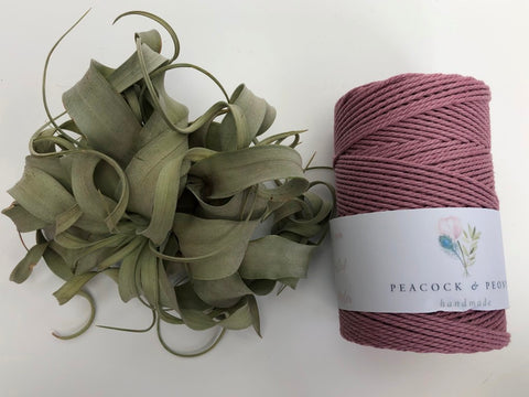 Primrose pink, 2.5mm, 3-ply twisted rope - recycled cotton