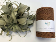 Tawny, 2.5mm, 3-ply twisted rope - recycled cotton