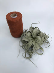 Copper, 2.5mm, 3-ply twisted rope - recycled cotton