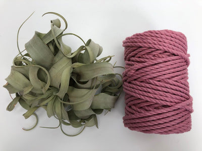 Primrose pink, 6mm, 3-ply twisted rope - recycled cotton
