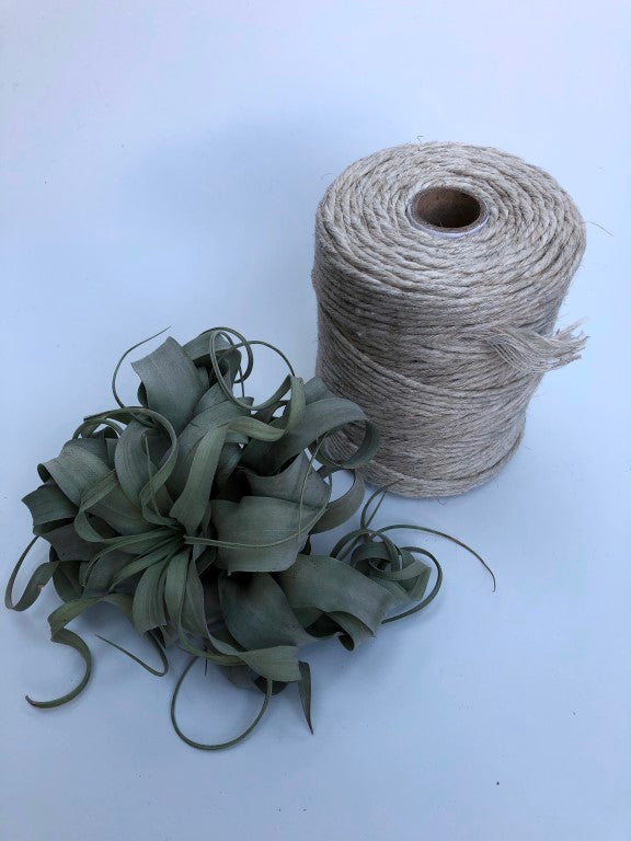 Linen, 5 mm supersoft single twisted cotton stringrope - recycled cotton