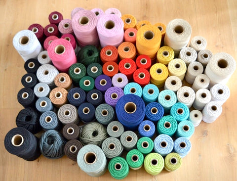 Black, 8mm, 3-ply twisted rope - recycled cotton
