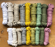 Linen, 8 mm, 130 plies supersoft single twisted cotton stringrope - recycled cotton