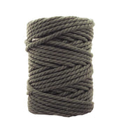 3 ply Twisted Macramerope - Shark Grey - in 4, 6 and 8 mm (Spanish Line)