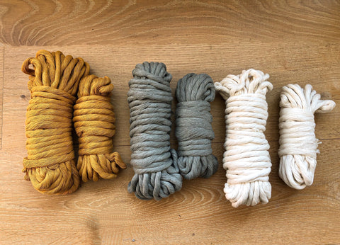 Mustard - 9 (!) mm supersoft single twisted cotton stringrope