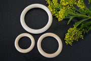 Wooden macrame rings