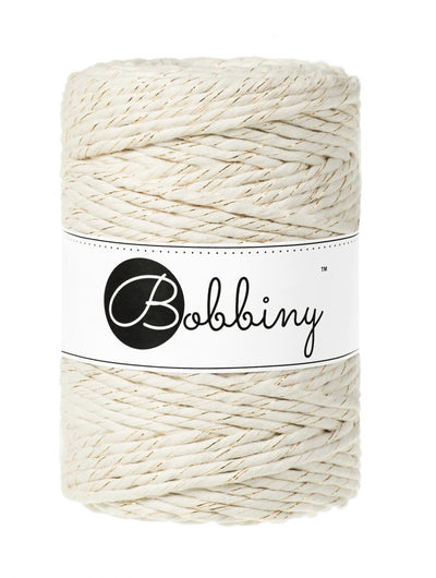 Bobbiny XXL- 5 mm stringrope (112 ply single twist) in several colors incl blingbling