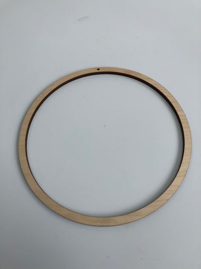 Birch wooden, lasercut ring. Perfect to hang your work!