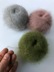 Mohair lace yarn (Spanish line) in 3 colors