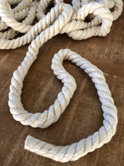 10mm, 3 strand Twisted Macramerope per meter. Perfect for macrame rainbows