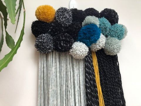 Cute pompom wallhanging