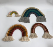 Handmade macrame rainbow in brown shades