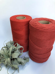 Rust, 5 mm supersoft single twisted cotton stringrope - recycled cotton