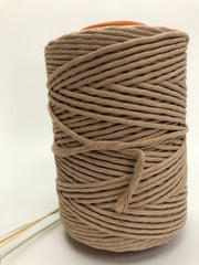 Beige - 5 mm supersoft single twisted cotton stringrope