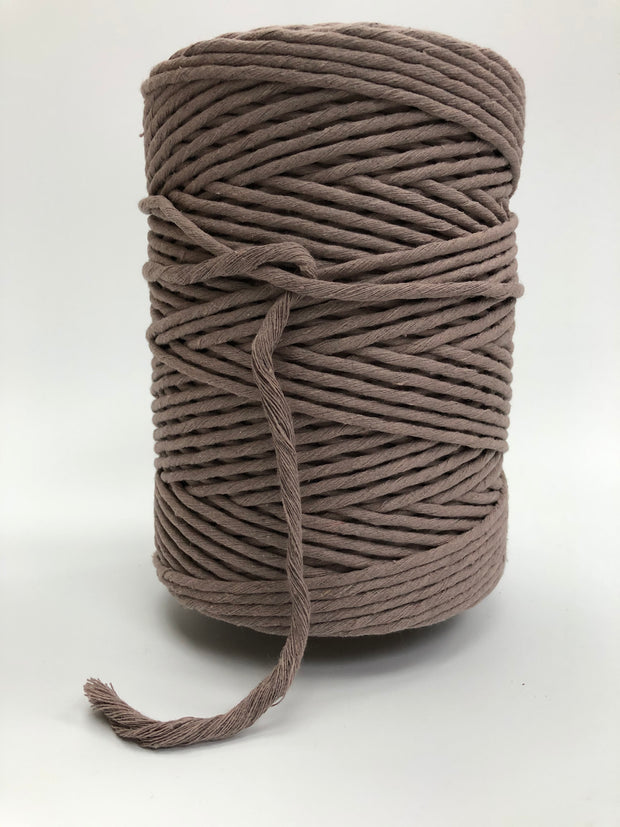 Mauve - 3 and 5 mm supersoft single twisted cotton stringrope
