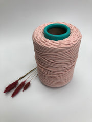 Ballet Pink - 3 and 5 mm supersoft single twisted cotton stringrope