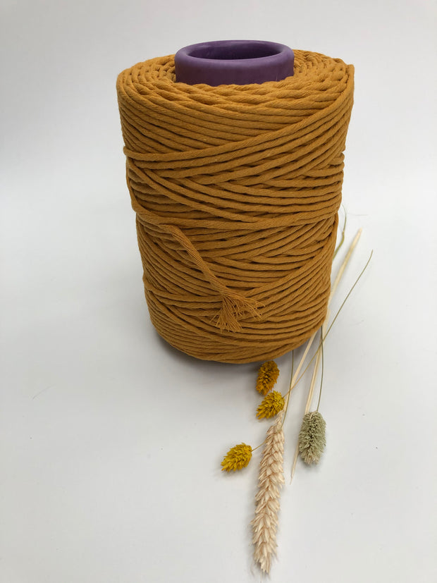 Mustard - 3 and 5 mm supersoft single twisted cotton stringrope