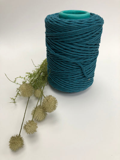 Teal - 5 mm supersoft single twisted cotton stringrope
