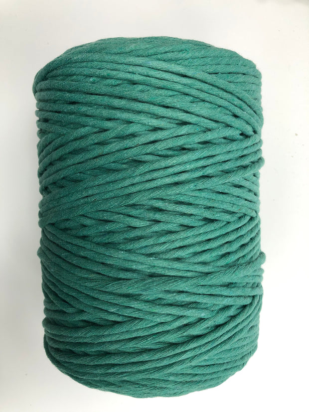 Jewel Green - 5 mm supersoft single twisted cotton stringrope