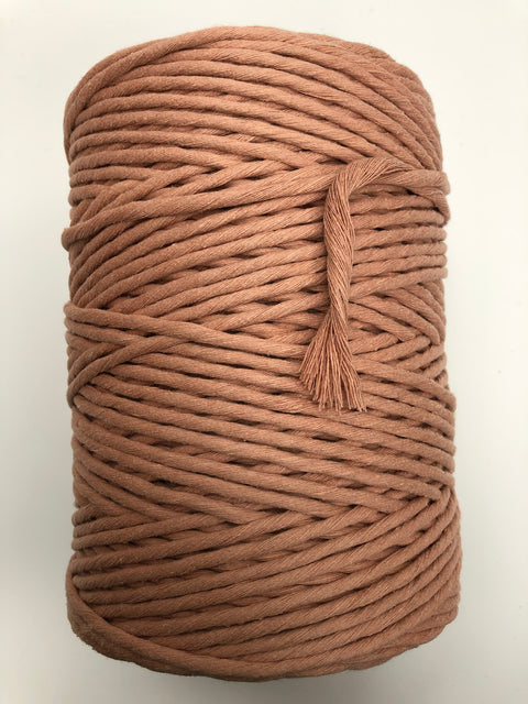 Antique Peach - 5 mm supersoft single twisted cotton stringrope