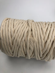 Off White (natural) - 9 (!) mm supersoft single twisted cotton stringrope