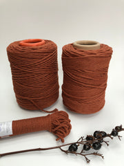 Terracotta - 4 mm 3-ply twisted rope