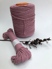 Lilac - 5 mm supersoft single twisted cotton stringrope