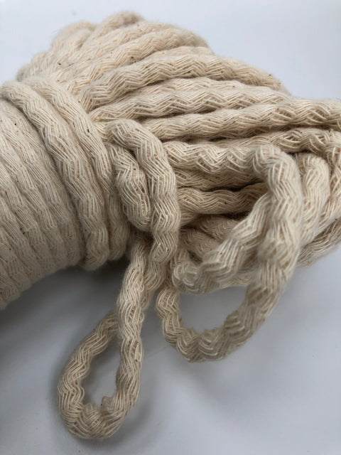 Off White - Braided Cotton Rope - 5mm