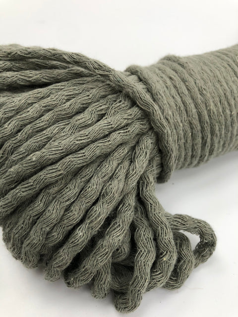 Sage Green - Braided Cotton Rope - 5mm