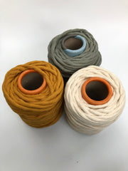 Sage Green - 9 (!) mm supersoft single twisted cotton stringrope