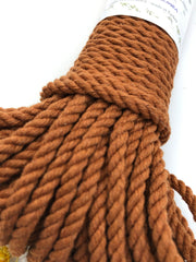 Cinnamon - 4 mm 3-ply twisted rope