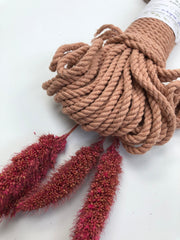 Antique Peach - 4mm, 3-ply twisted rope