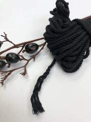 Black - 4mm, 3-ply twisted rope