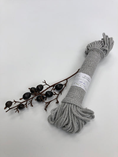 Grey - 4mm, 3-ply twisted rope