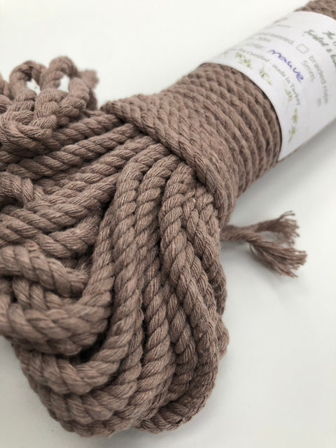 Mauve - 4mm, 3-ply twisted rope