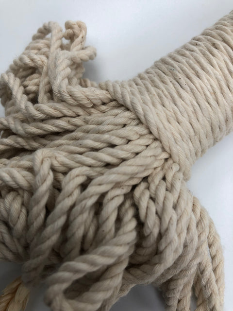 Off White - 4mm, 3-ply twisted rope