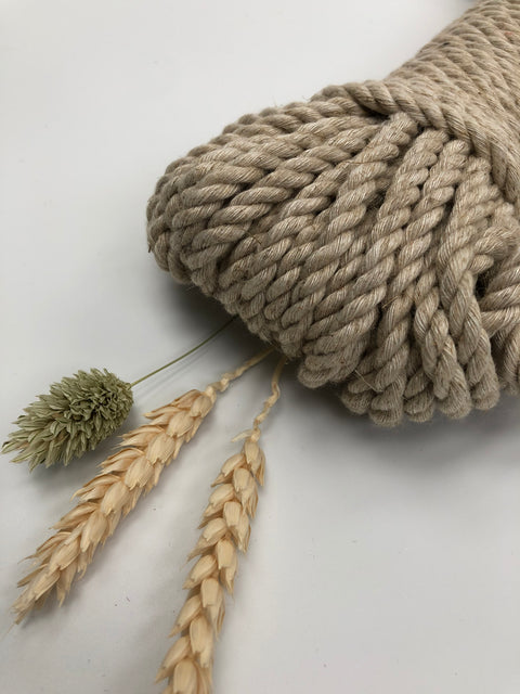 Linen - 5 mm 3-ply twisted rope