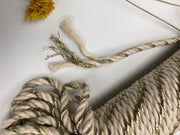 Metallic Twisted Rope Goldd with Off White - 4mm, 30m per bundle